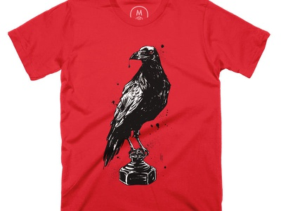 QUILL - A Shirt for Writers and Artists shirt design illustration pen and ink india ink ink drawing