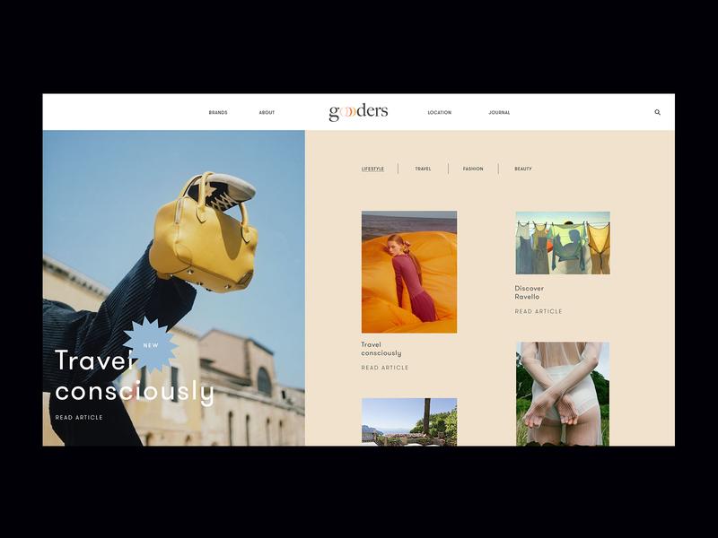 Goooders blog fashion web design digital