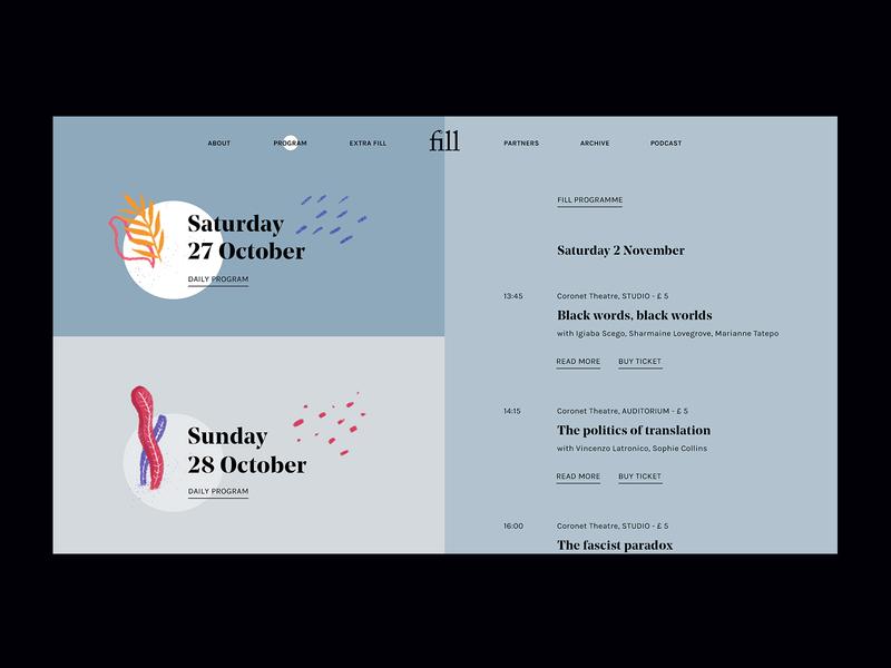 Fill Festival web digital design