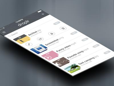 Droplr on iOS 7 droplr iphone ios7