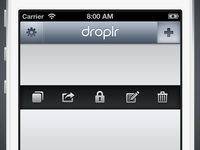 Droplr iPhone Adjustments