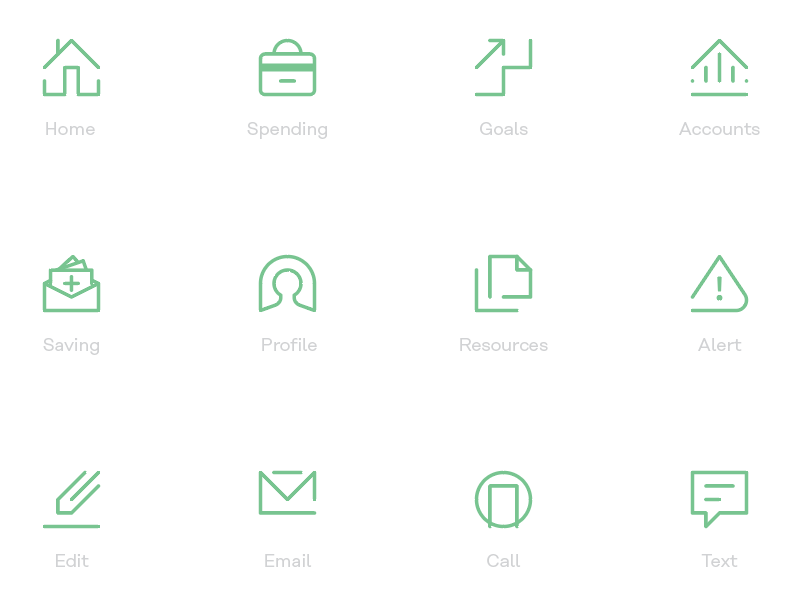 Financial App Icon Set ui app financial iconography icons icon