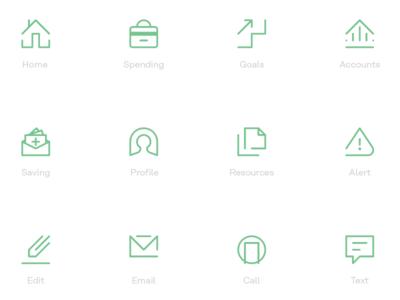 Financial App Icon Set