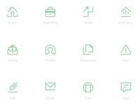 Financial App Icon Set