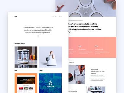 Personal Website Update - Peter Ford Design 👨🏻💻 landing website web ux ui responsive personal simple portfolio minimal clean