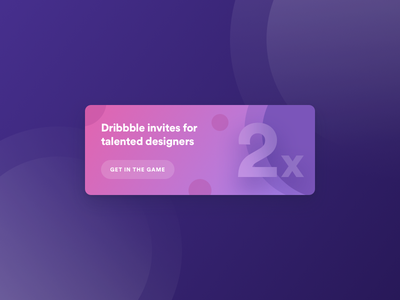 Get in the game - 2 x Dribbble Invites 🎟️ ui sketch futuristic bold gradient flat cards player draft invitation invite dribbble