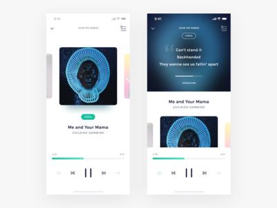 Music Player 🎧• Sketch Freebie