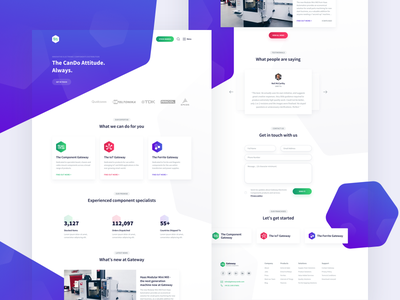 Landing Page Design - Gateway EC 🖥️ ui ux design gradient colorful clean layout web header homepage landing page landing