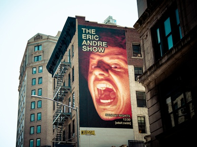 Eric Andre Show Mural in NYC