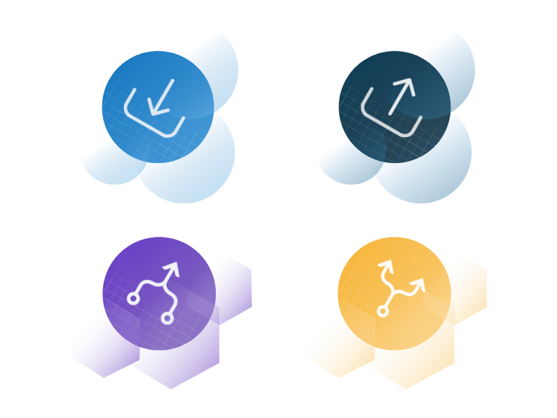 UI illustration icônes section category circles interface geometric icons ui