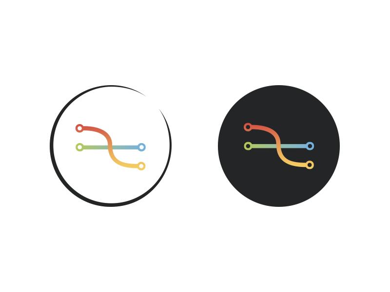 Logotype branch dev logo circle graphic gradient logotype merge git branch