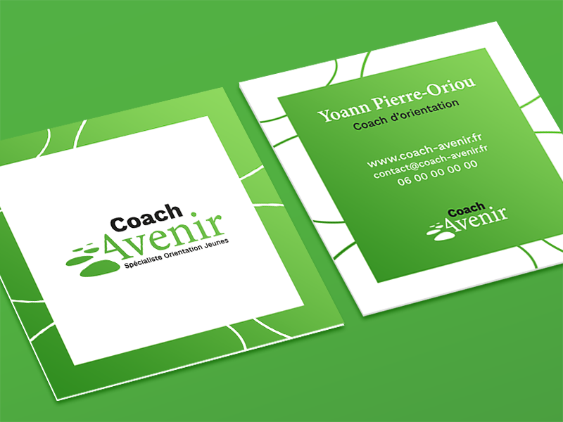 Visite card typography design chart logo brand company corporate square green print visite card