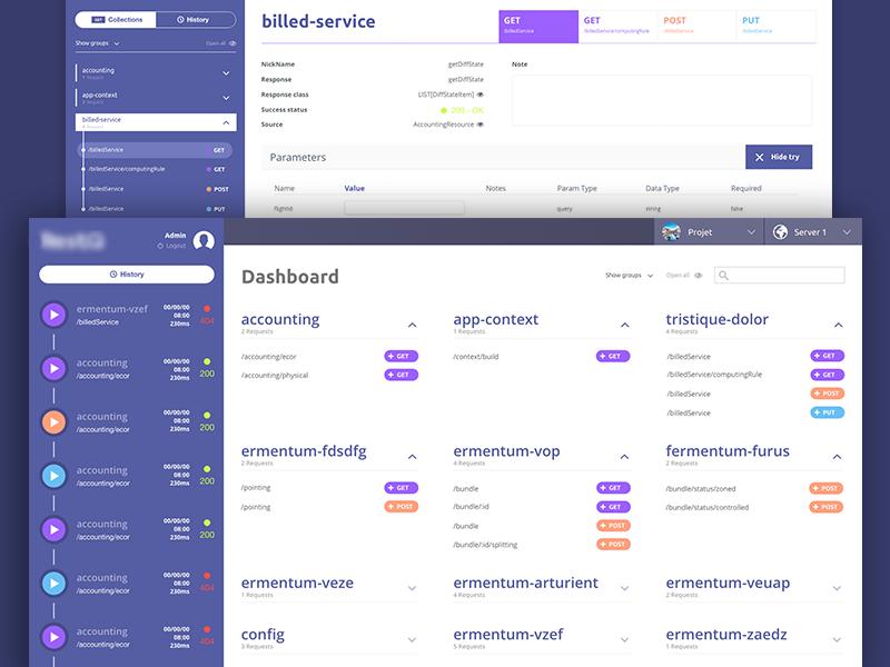 Tool WebApp UI accordion a list home side navigation menu dashboard interfacen ux ui