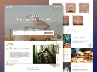 Camping les Chevreuils Website