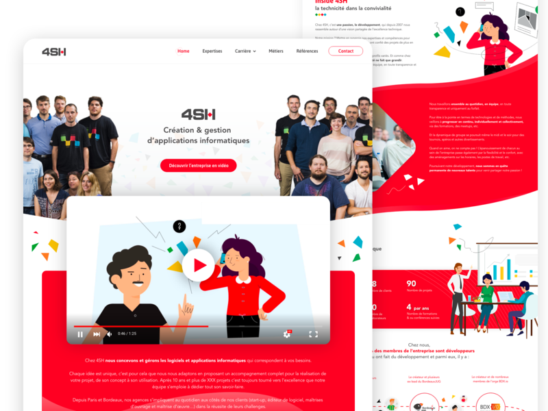 4SH Website institutional company corpotate branding webdesign interface design ui ux brand graphic website