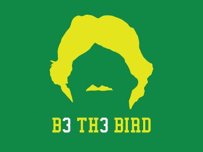 Be The Bird larry bird boston knucklehead bkh celtics 33 t-shirt mustache glorious hair blank stare