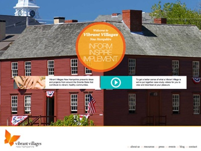 Vibrant Villages New Hampshire vibrant villages logo website bad puns parallax community