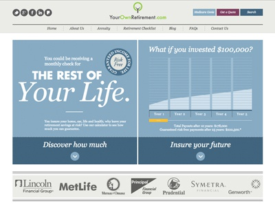 Your Own Retirement Home website home page retirement