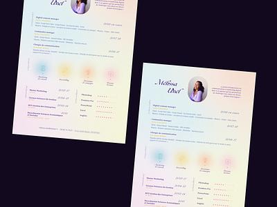 Curriculum vitæ print design socialmedia