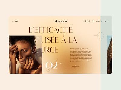 La cure beauté desktop webdesign