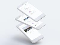 Minimal mobile dashboard prototype