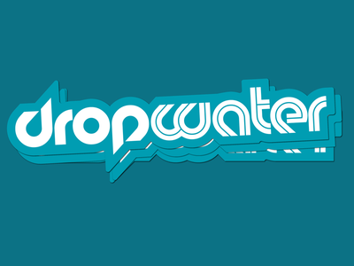 Dropwater Sticker die cut sticker type logotype water drop