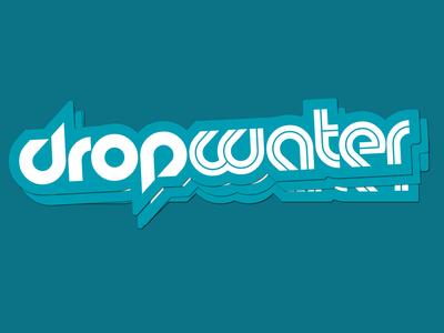 Dropwater Sticker die cut sticker type logotype water drop