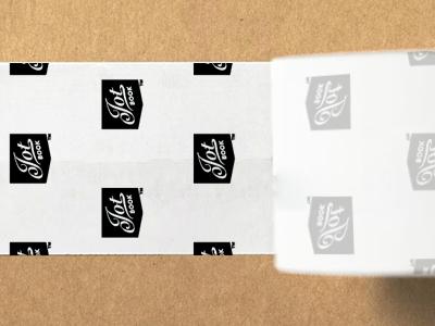 Jot Book Packaging Tape tape packaging branding blackandwhite avenir snell