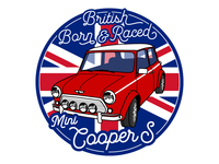 "BMC Classic Mini Cooper S (3"" sticker)"