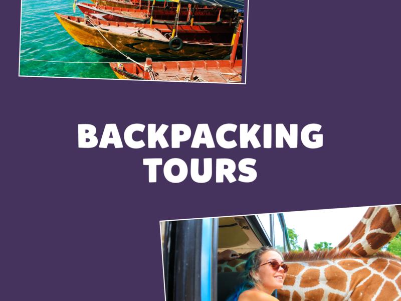 Backpacking Tours   Logo logo design typography photography illustration branding backpacking tourism travel logotype logo design