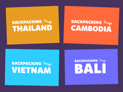 Backpacking Tours | Tour Logos illustration typeography typeface logo design logo logotype cambodia bali vietnam thailand tourism travel tours branding design