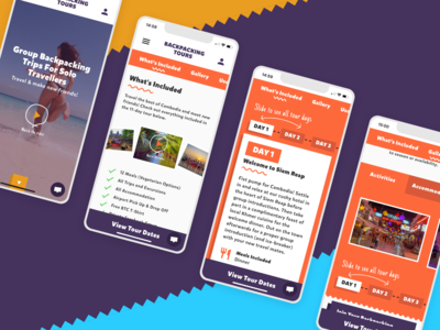 Backpacking Tours | Mobile Designs