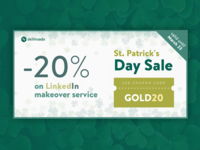 St patrick's day twitter ad