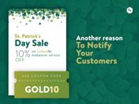 Green banner for St. Patricks Twitter Campain