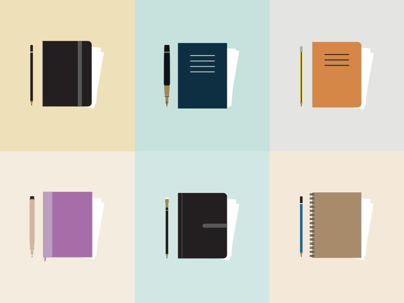 Illustrator's Diary  sketchbook pen pencil diary