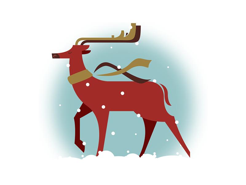 Oh Deer christmas festive snow deer