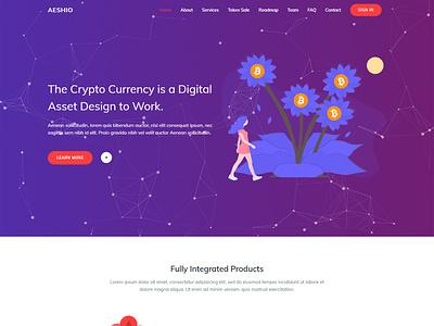 Aeshio - Crypto Currency coin currency bitcoin wallet bitcoin exchange ico ico agency cryptocurrency exchange blockchain cryptocurrency blockchain bitcoin design