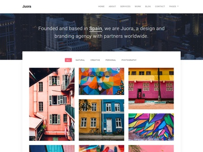 Juora - Minimal Template modern design minimal gallery portfolio photography ux ui clean bussiness bootstrap agency