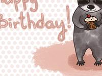 Birthday racoon