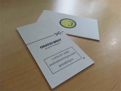 Personal Branding - Letterpress Business Card personal branding letterpress business cards owdesignz logo blind impression