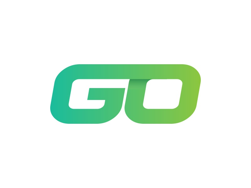 Go  go logo flat design wip owdesignz