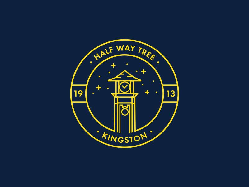 Half Way Tree Geofilter half way tree owdesignz geofilter snapchat historic kingston jamaica city logo badge clocktower hwt