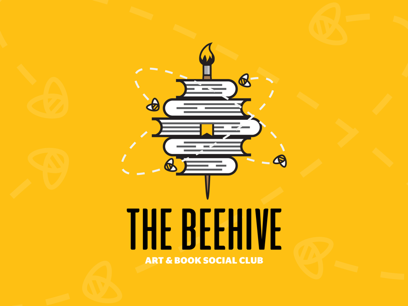 The Beehive owdesignz hive club social secretlivesoffriends instagram buzz paintbrush books art bees thebeehive