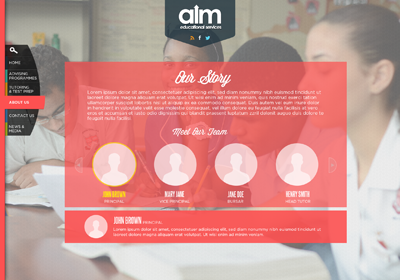Aim - About Us Page