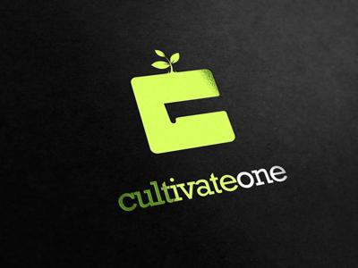 Cultivate One cultivate one negative space c 1 shrub logo owdesignz c