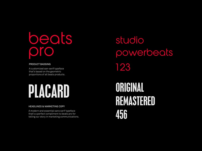 Beats by Dre typography design system branding beats by dre package design