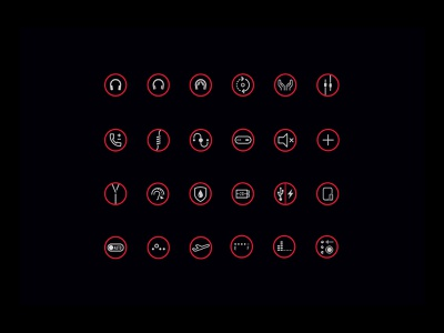 Beats by Dre icon set iconography design system brandnig beats by dre package design