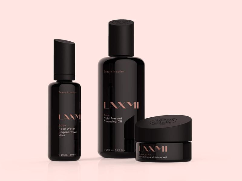 Laxmi – Fair Trade Organic Skincare logo skincare lifestyle cosmetics fair trade package design brand identity branding