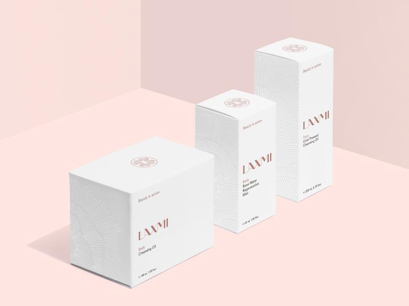 Laxmi – Fair Trade Organic Skincare lifestyle skincare cosmetics fair trade package design logo brand identity branding