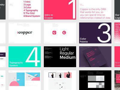 Copper Brand Guidelines identity system guidelines tech naming logo branding brand identity b2b